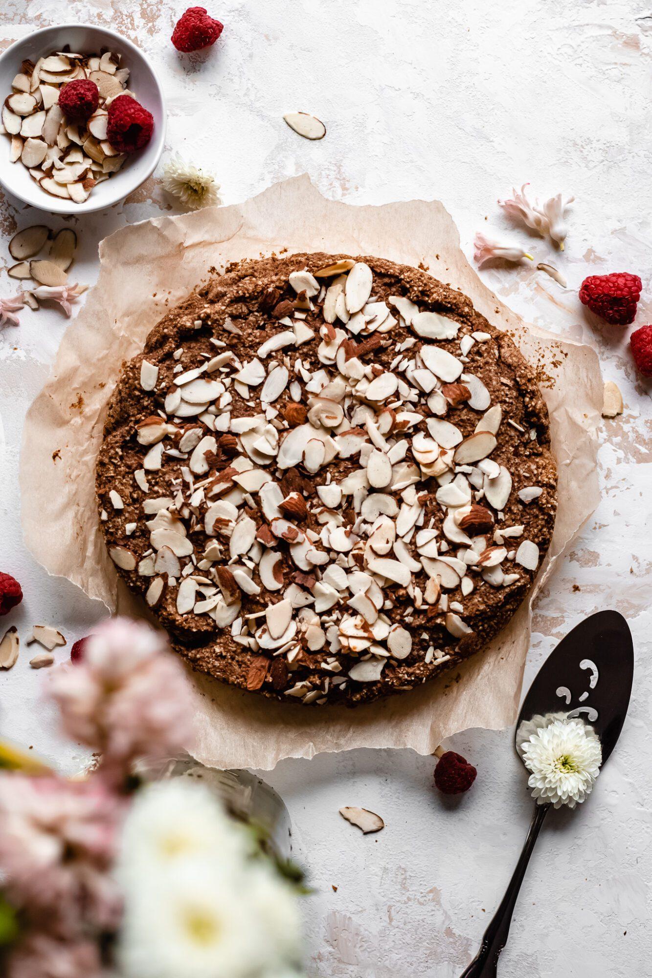 whole almond oat cake