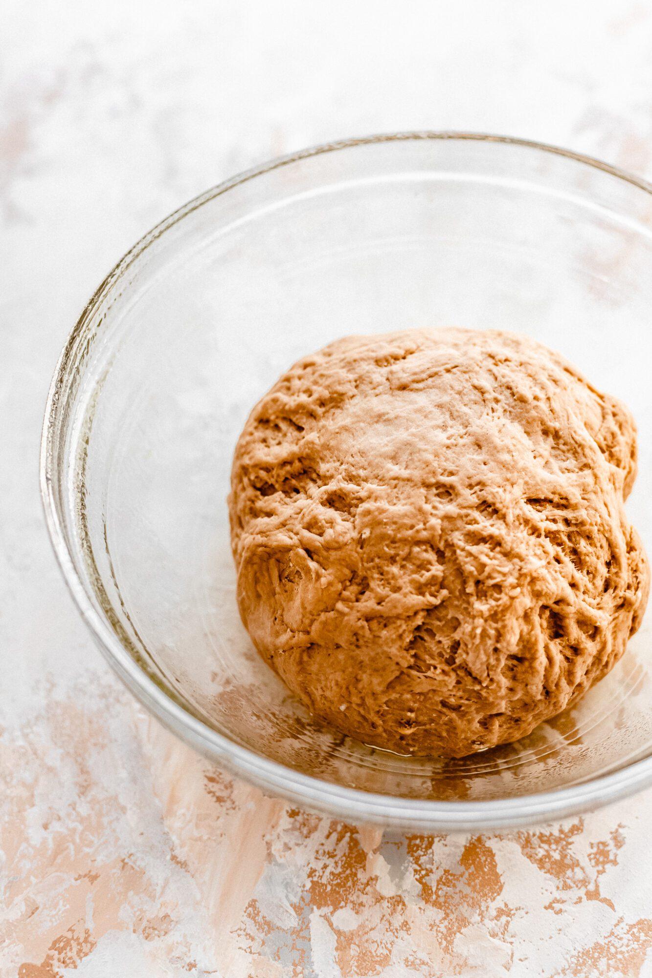 challah dough before it rises
