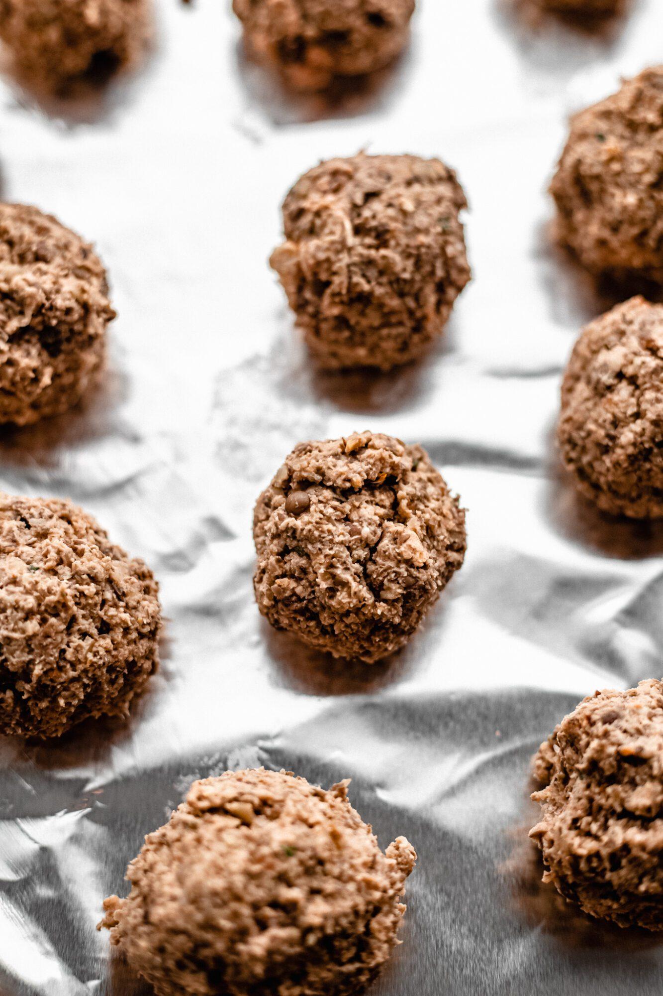raw vegan meatballs