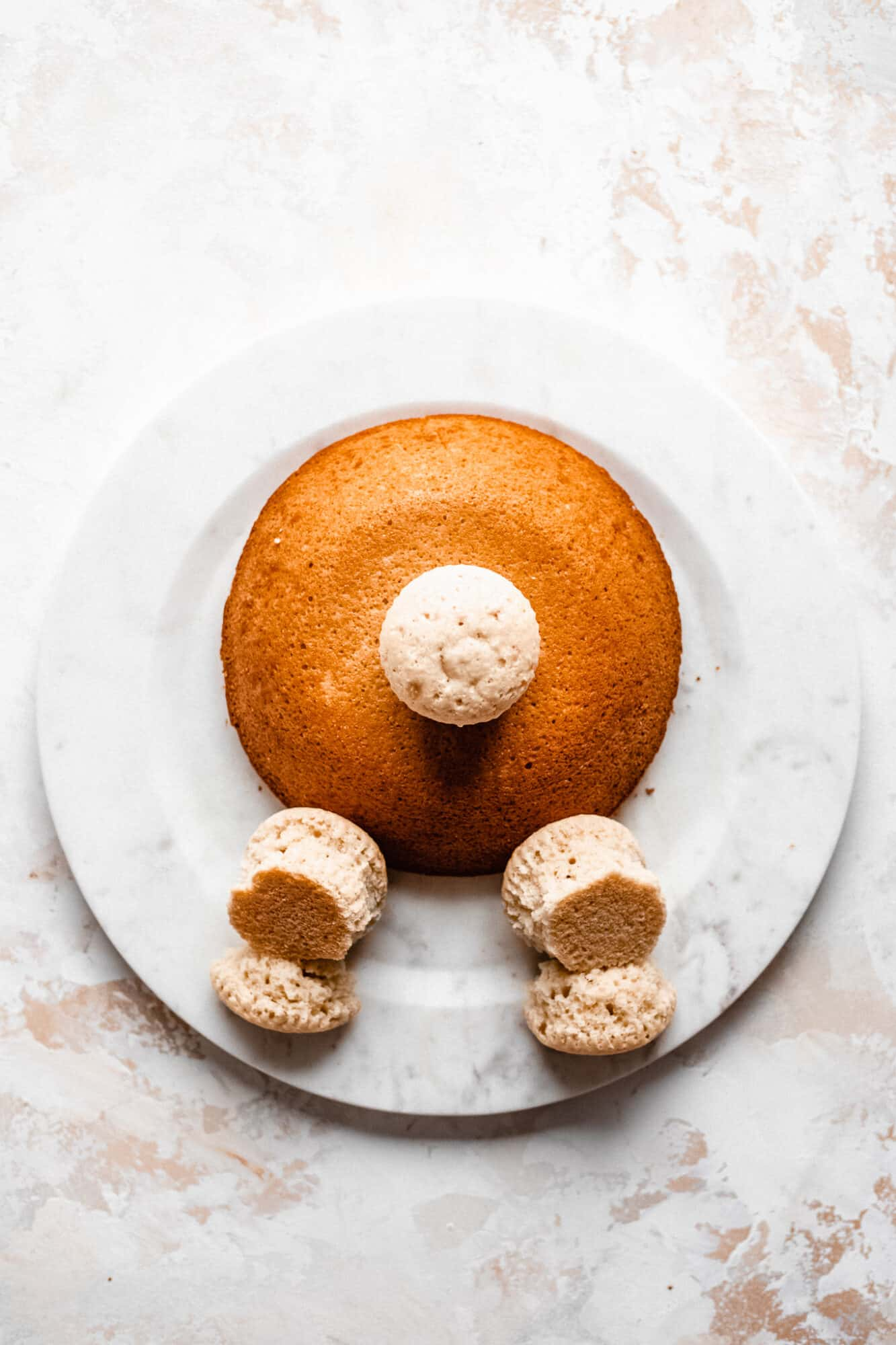 bunny butt cake with cotton tail