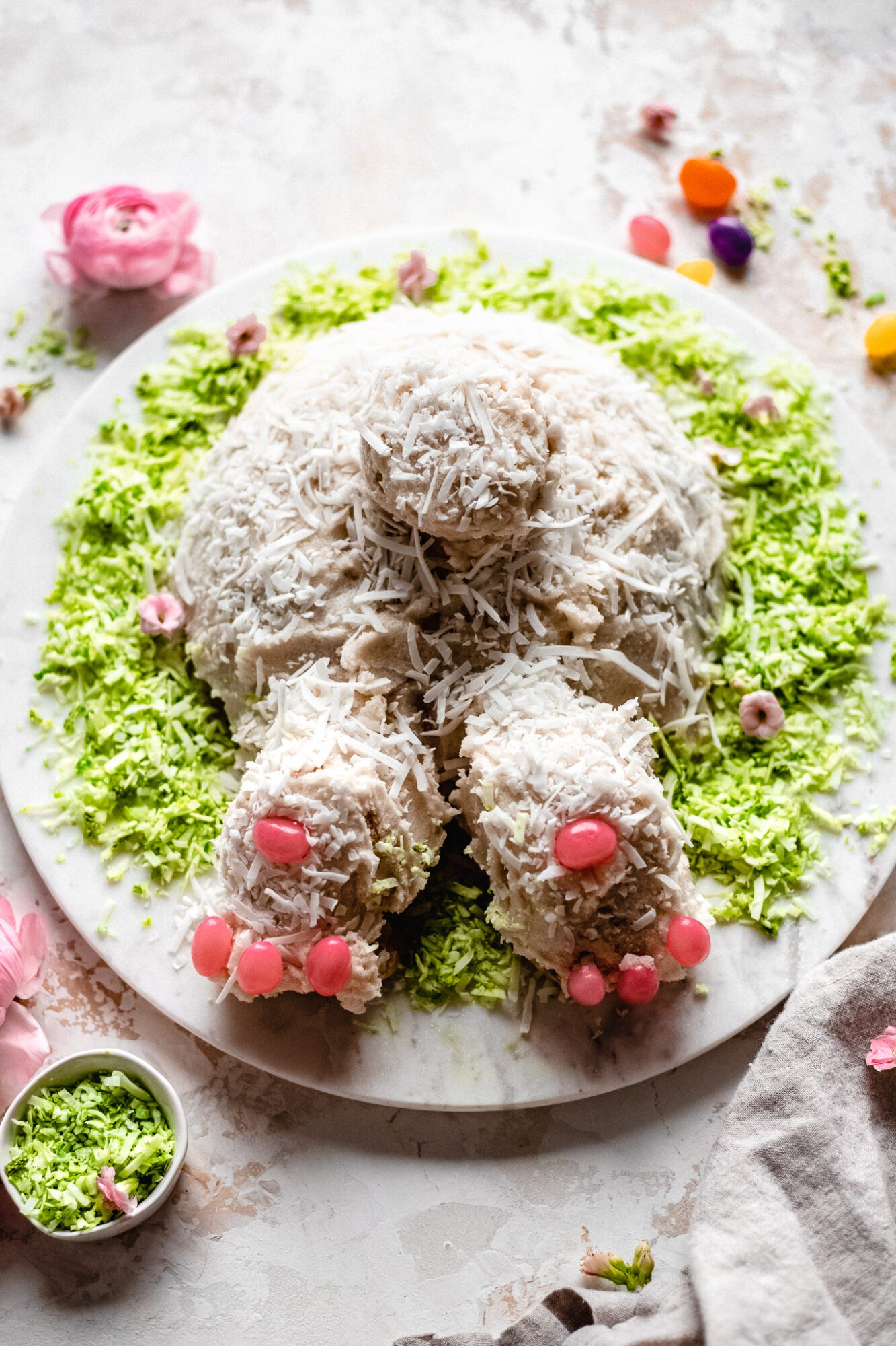 bunny cake with decorations