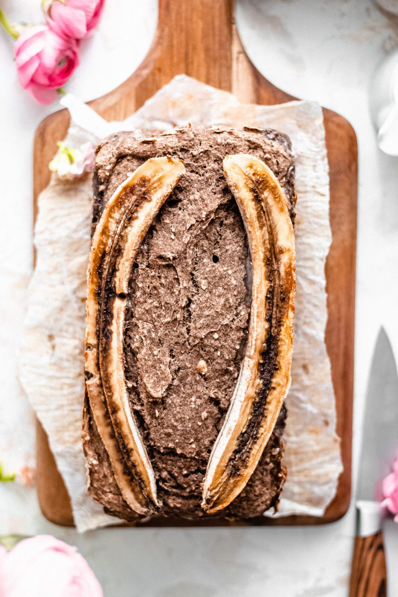 buckwheat banana bread loaf