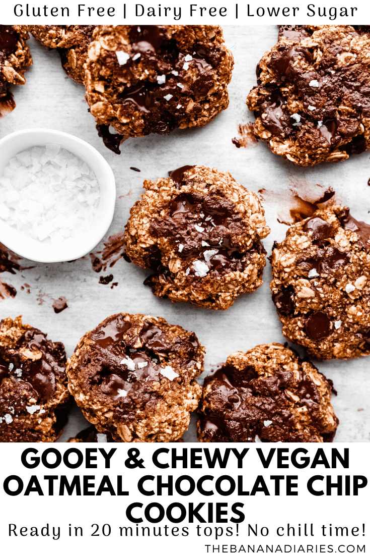 pinterest image for oatmeal cookies