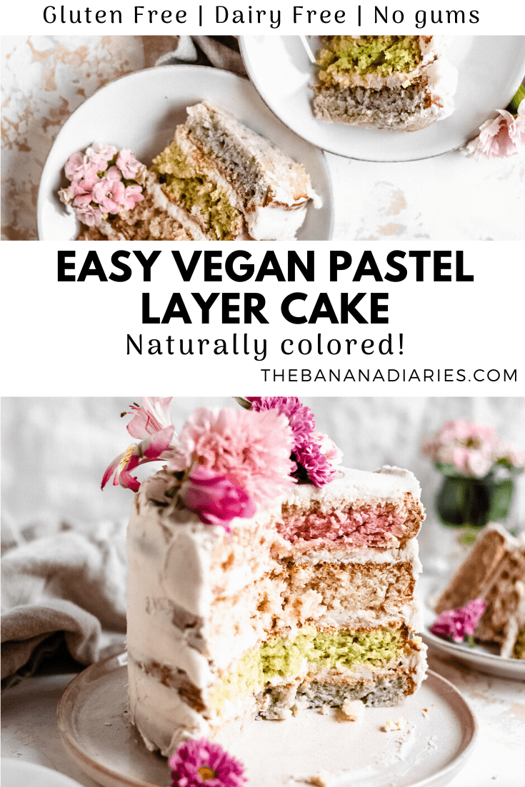 pinterest mage of vegan layer cake