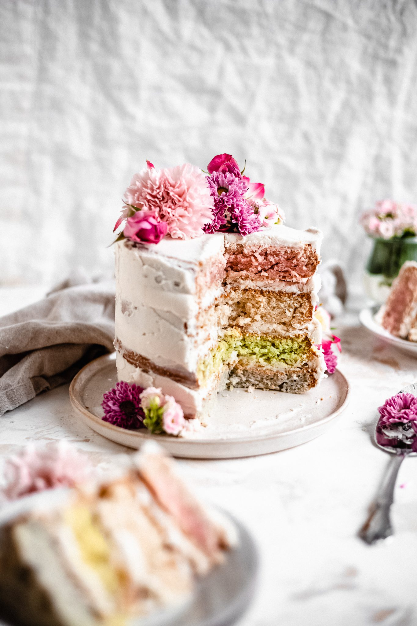 Vegan Pastel Layer Cake