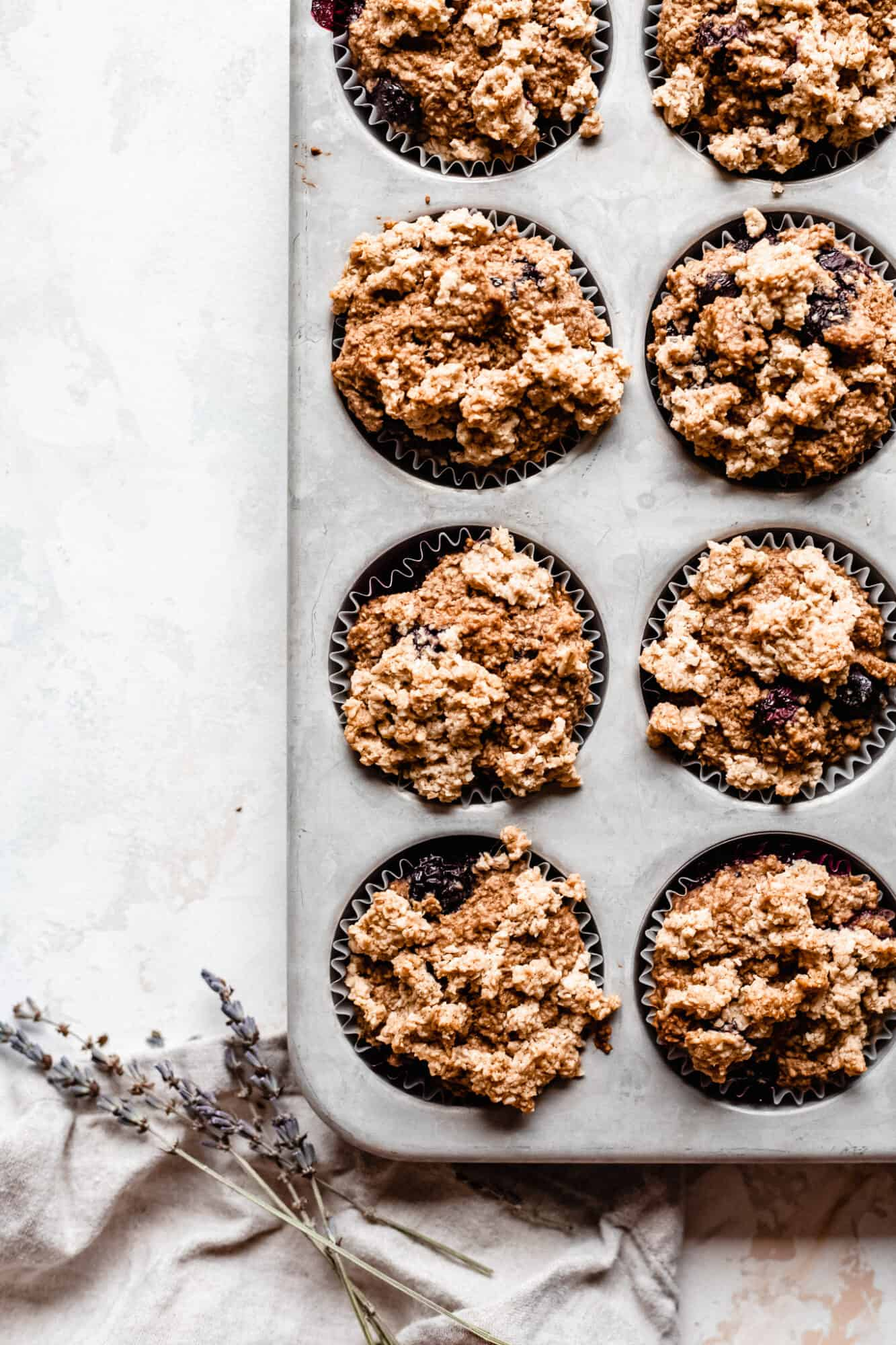 blueberry muffins baked