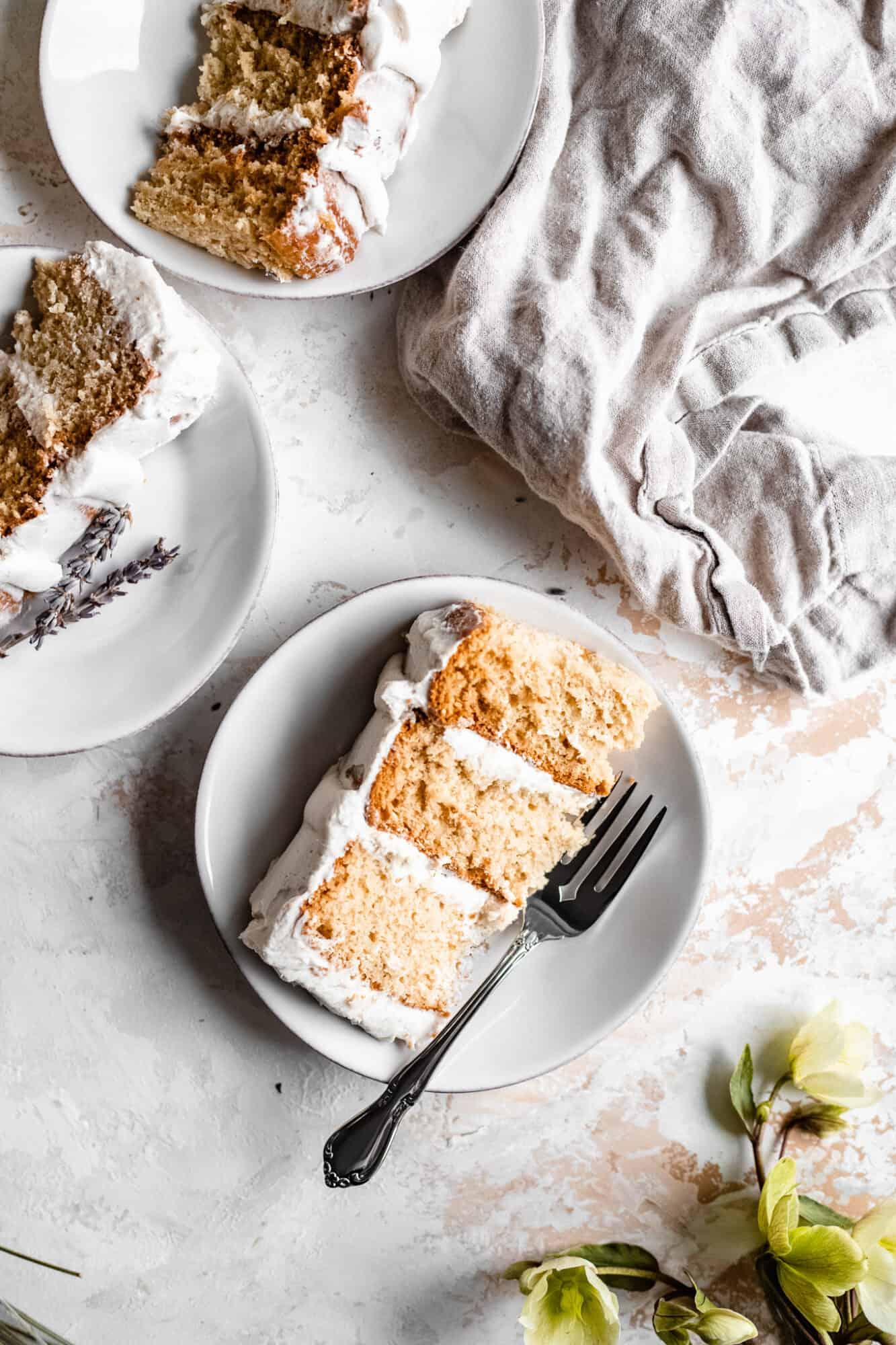 slices of vegan cake
