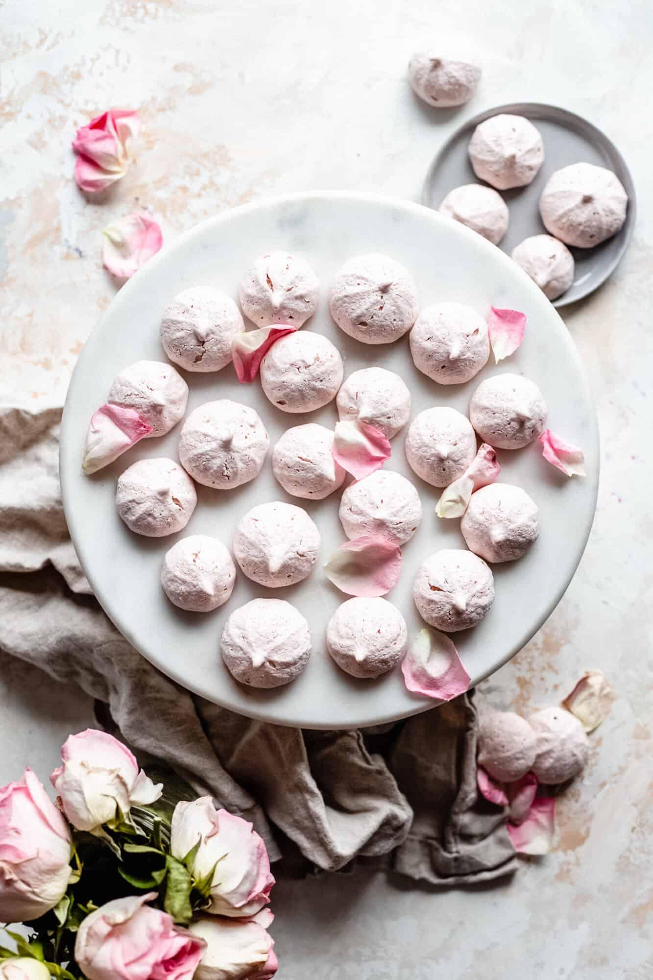 plate of meringue cookies