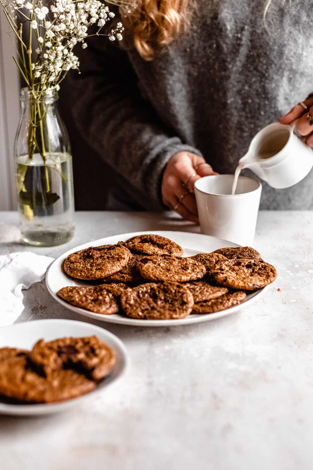 Flourless Peanut Butter Chocolate Chip Cookies Vegan The Banana Diaries