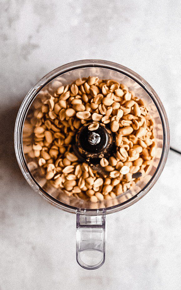 food processor of peanuts