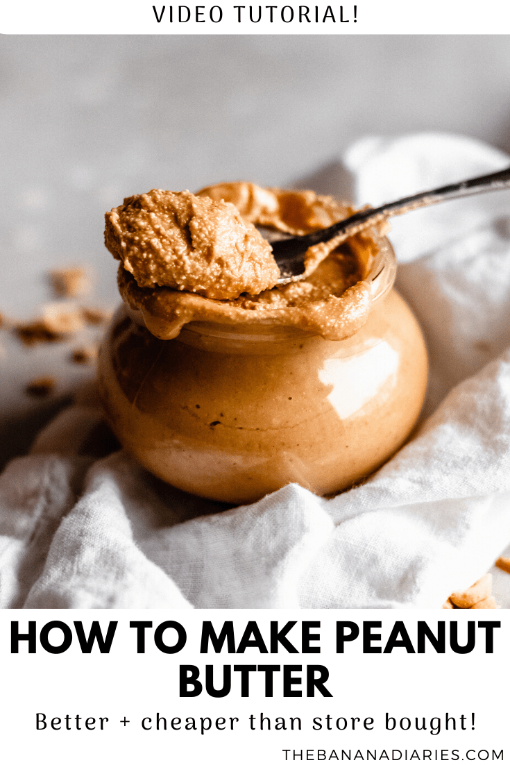 pinterest image for creamy peanut butter