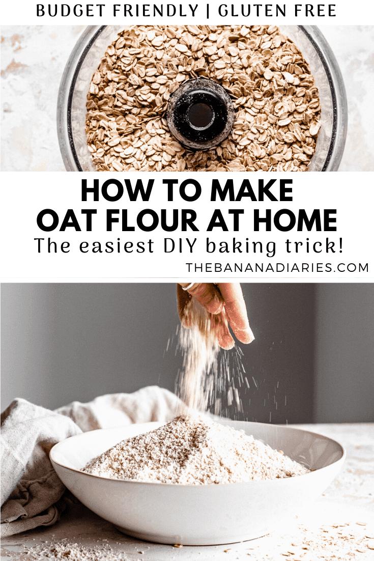 pinterest image for oat flour