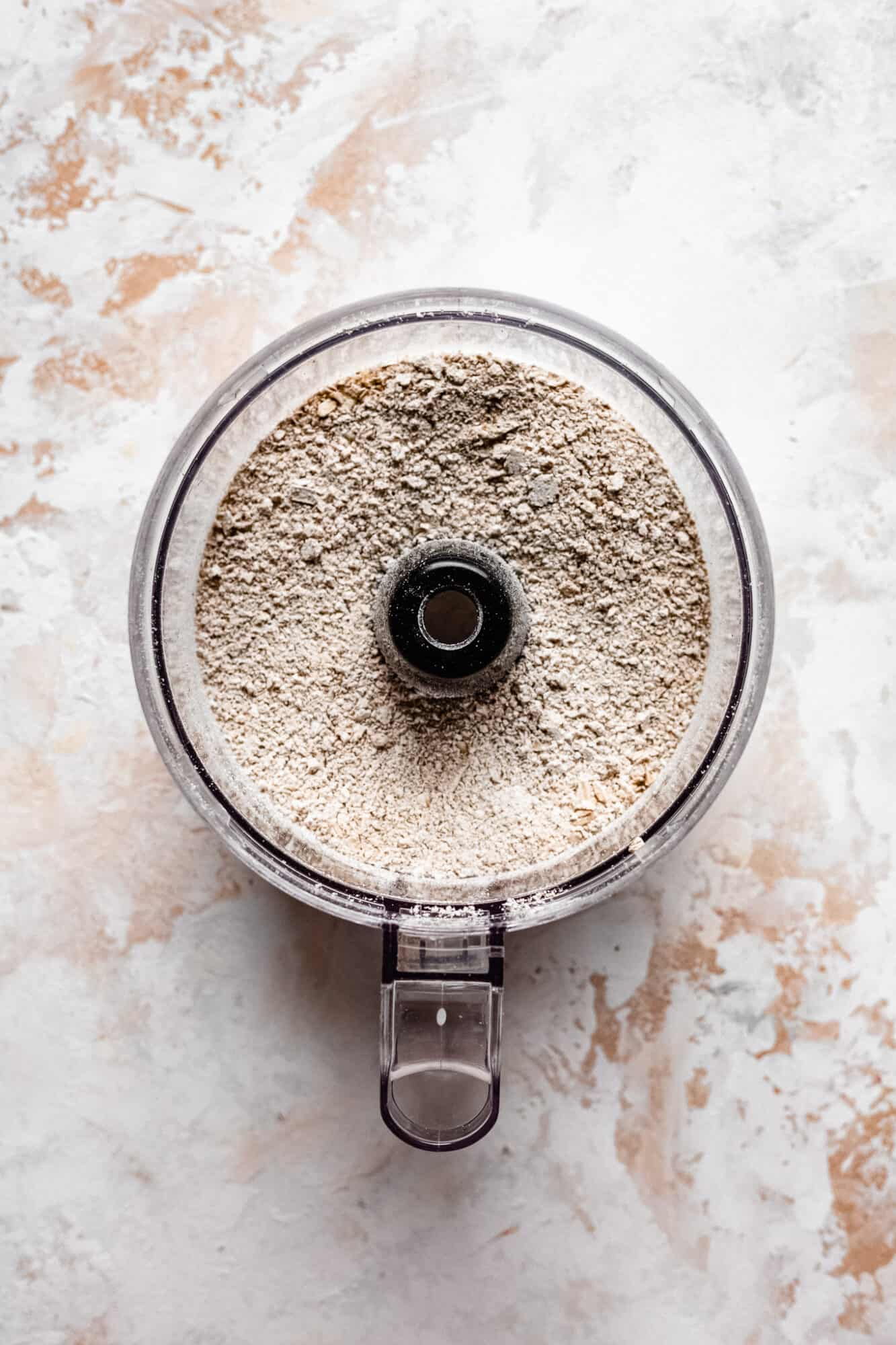 food processor with ground oats