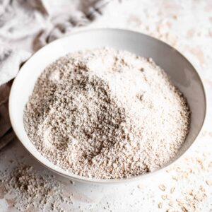 bowl of oat flour