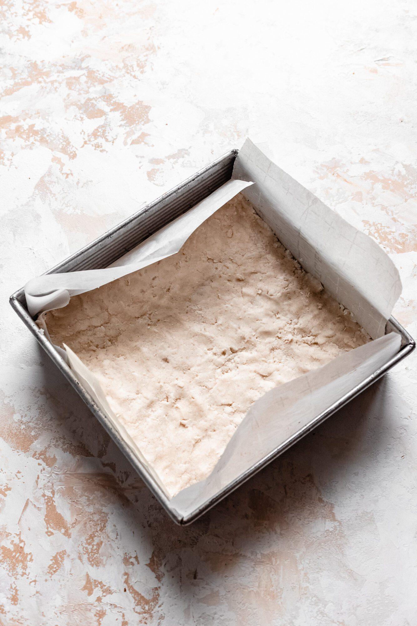 raw shortbread crust