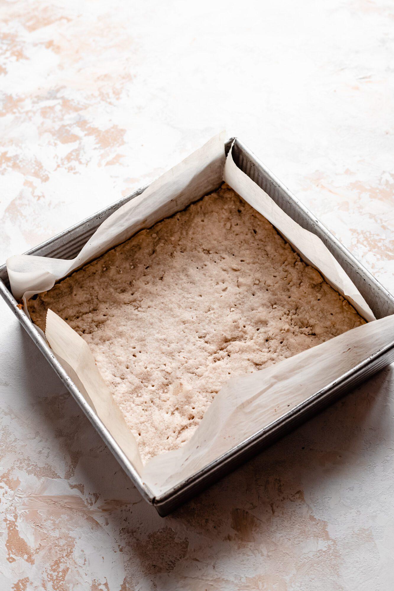 baked shortbread crust