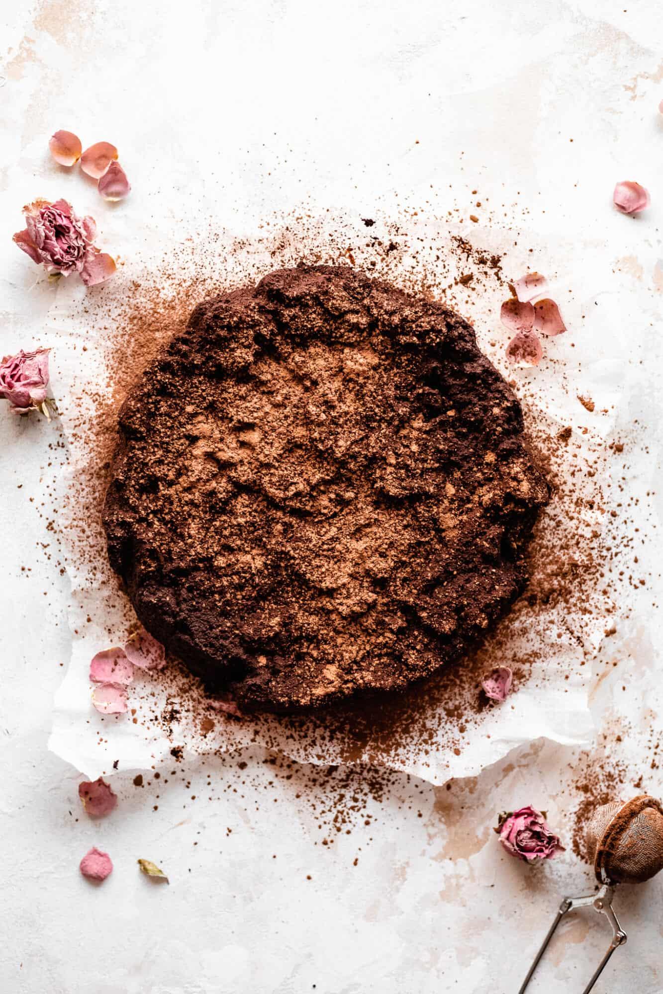 whole paleo vegan flourless chocolate cake