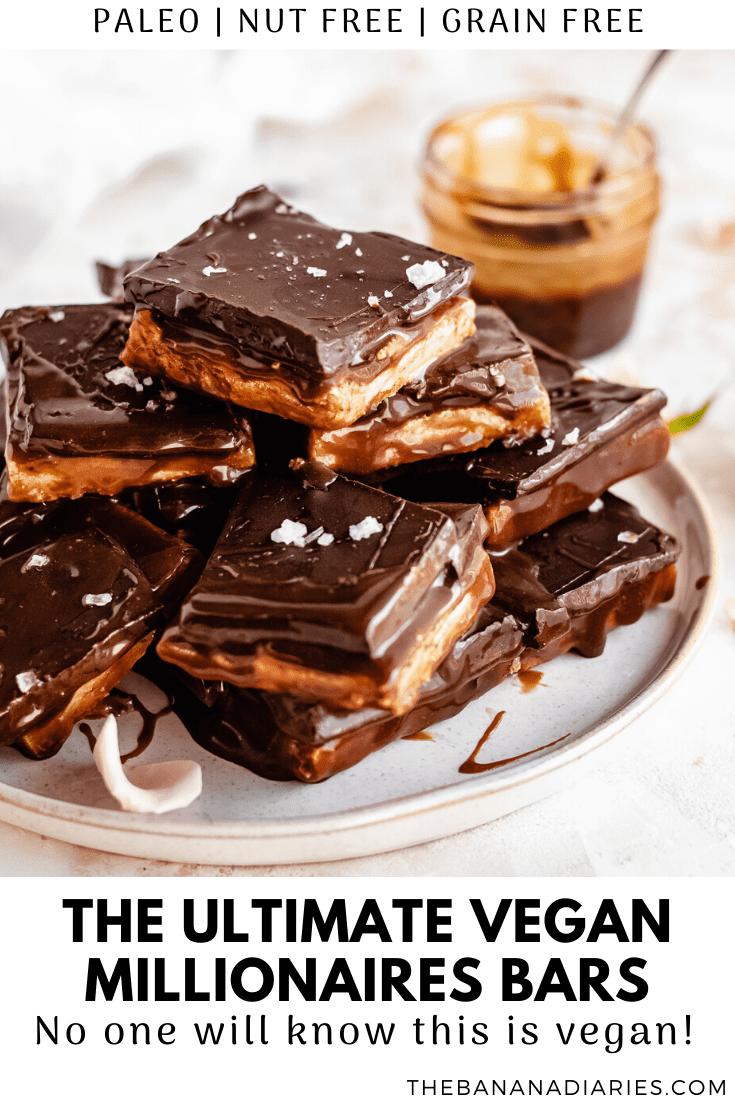pinterest image for vegan millionaires shortbread