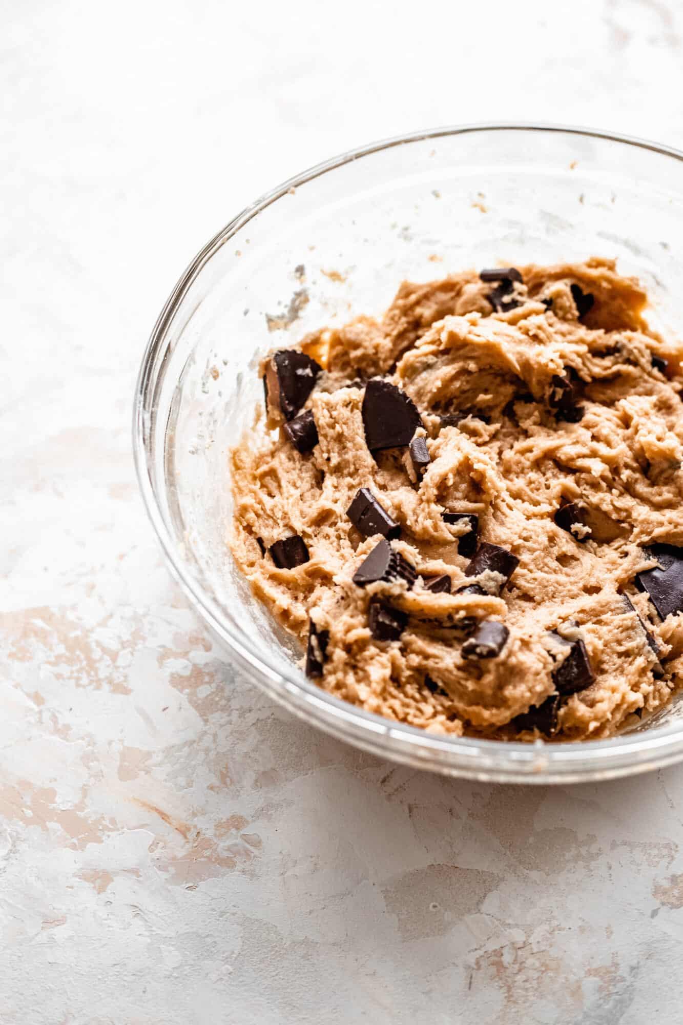 peanut butter cookie dough batter