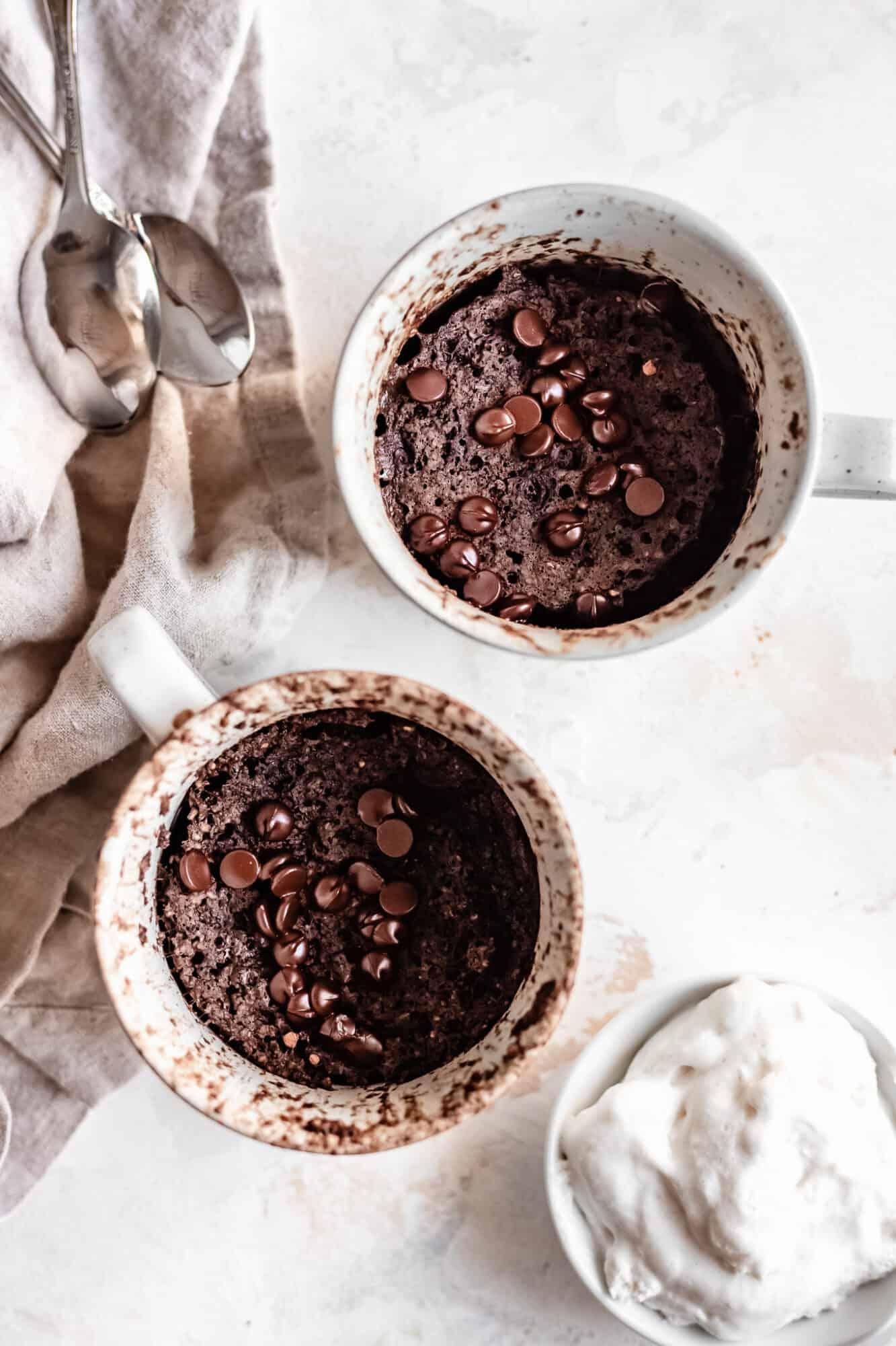 mug cakes baked