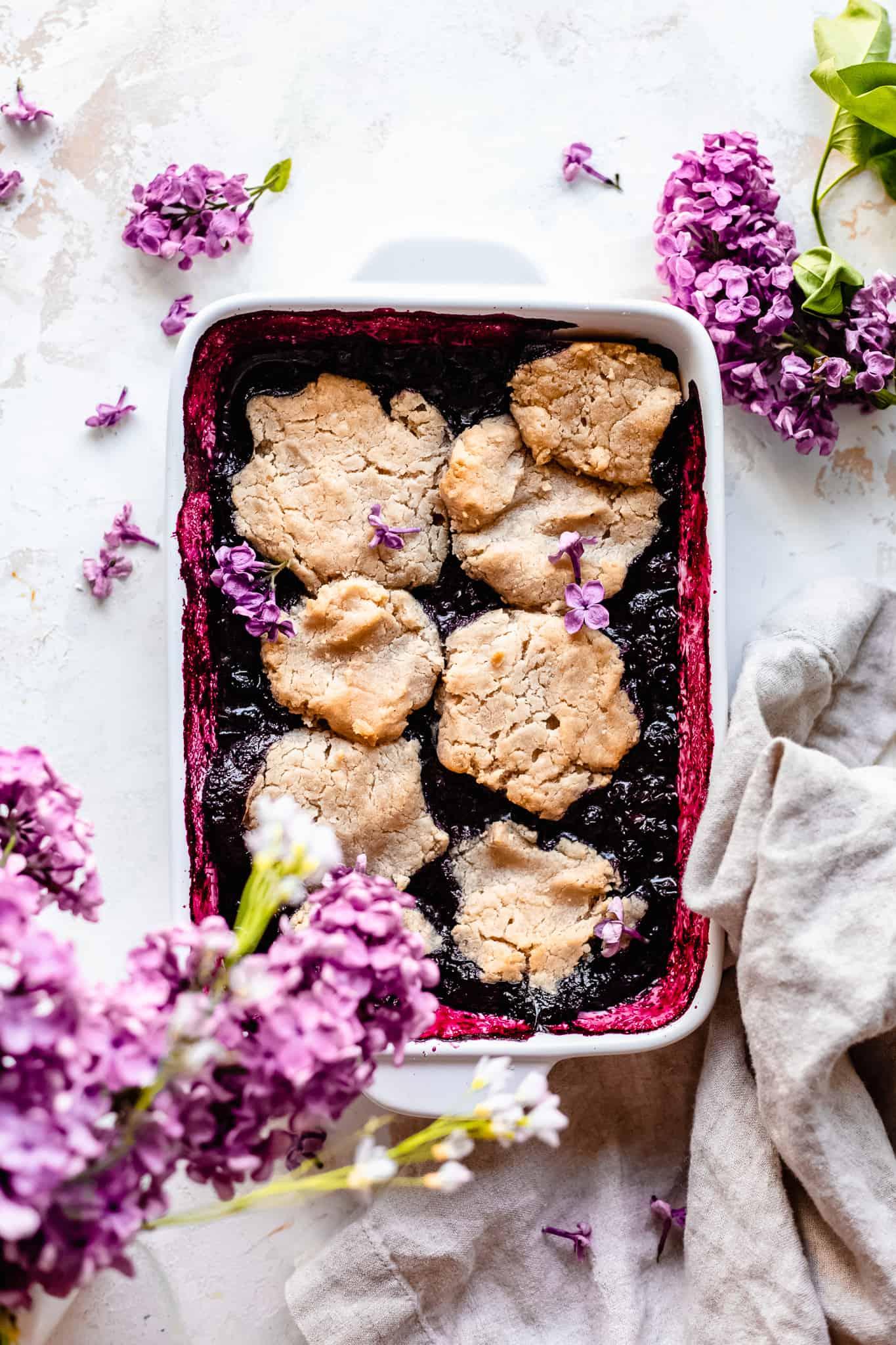 paleo veagn blueberry cobbler