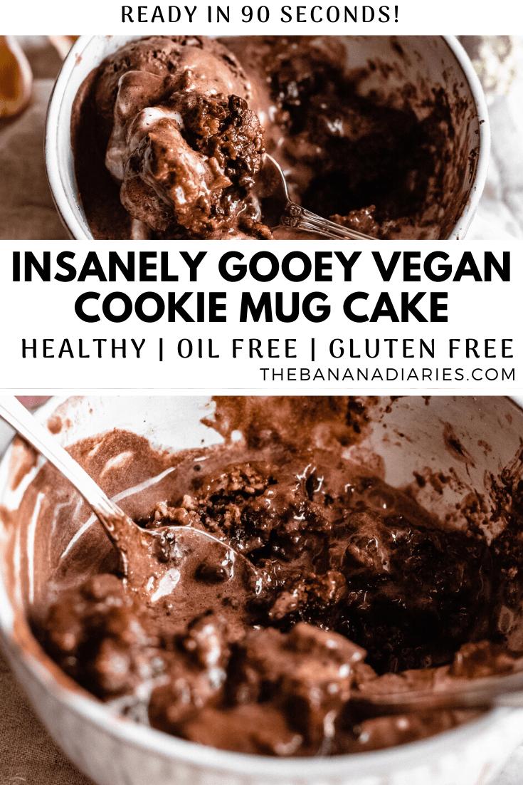 Vegan Chocolate Chip Cookie Mug Cake (No Egg, GF, Oil Free ...