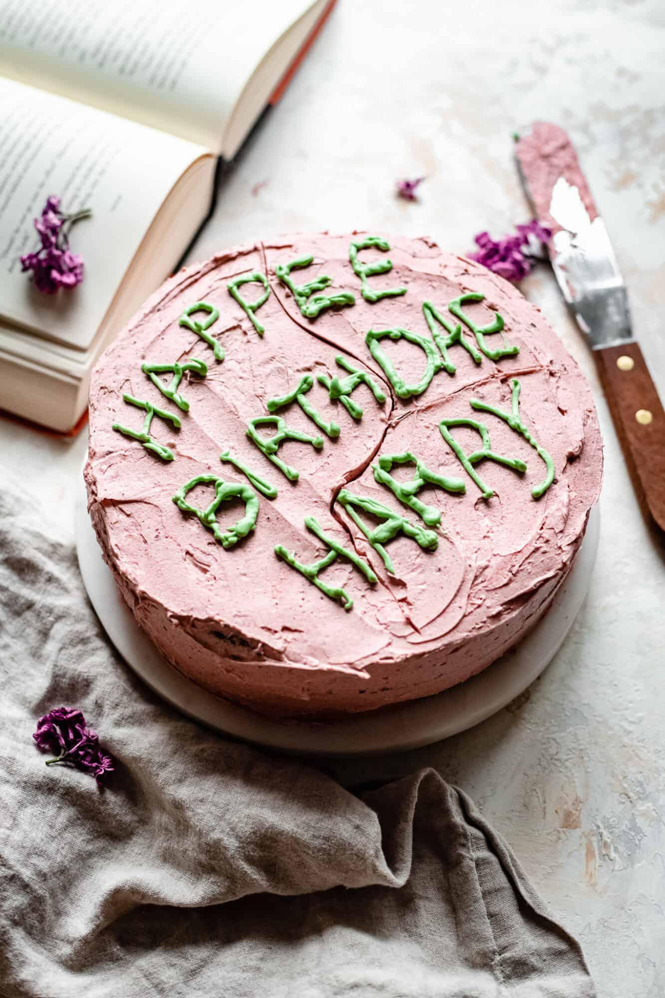 harry potter birthday cake vegan