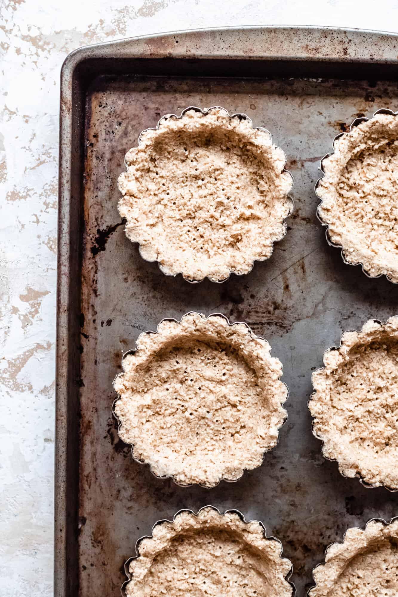 raw oat crust tartlets