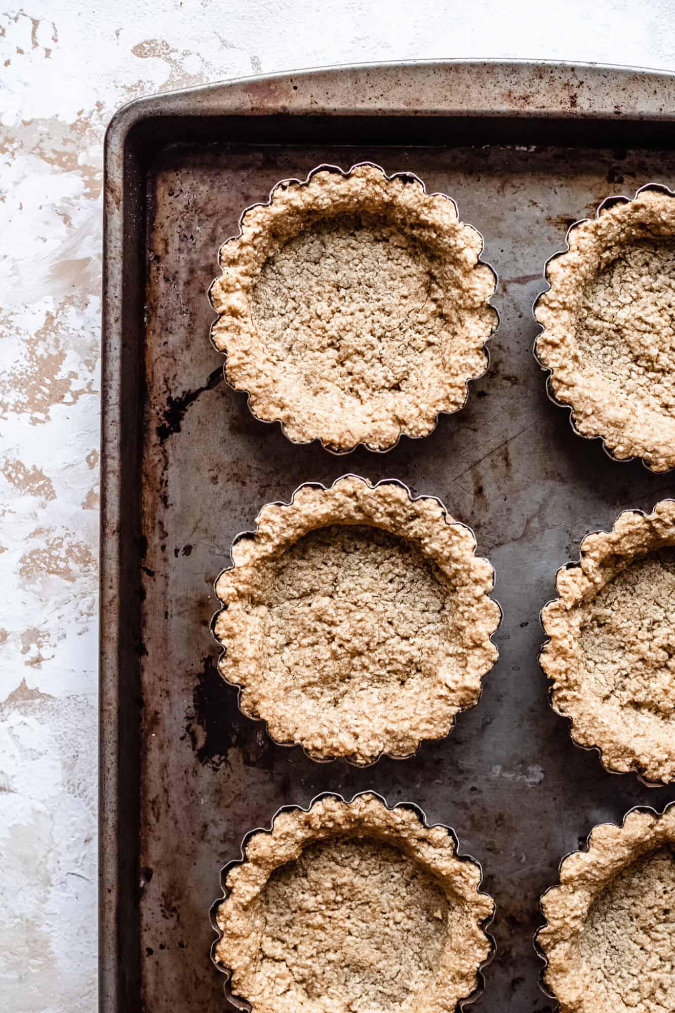 baked oat crust tartlets