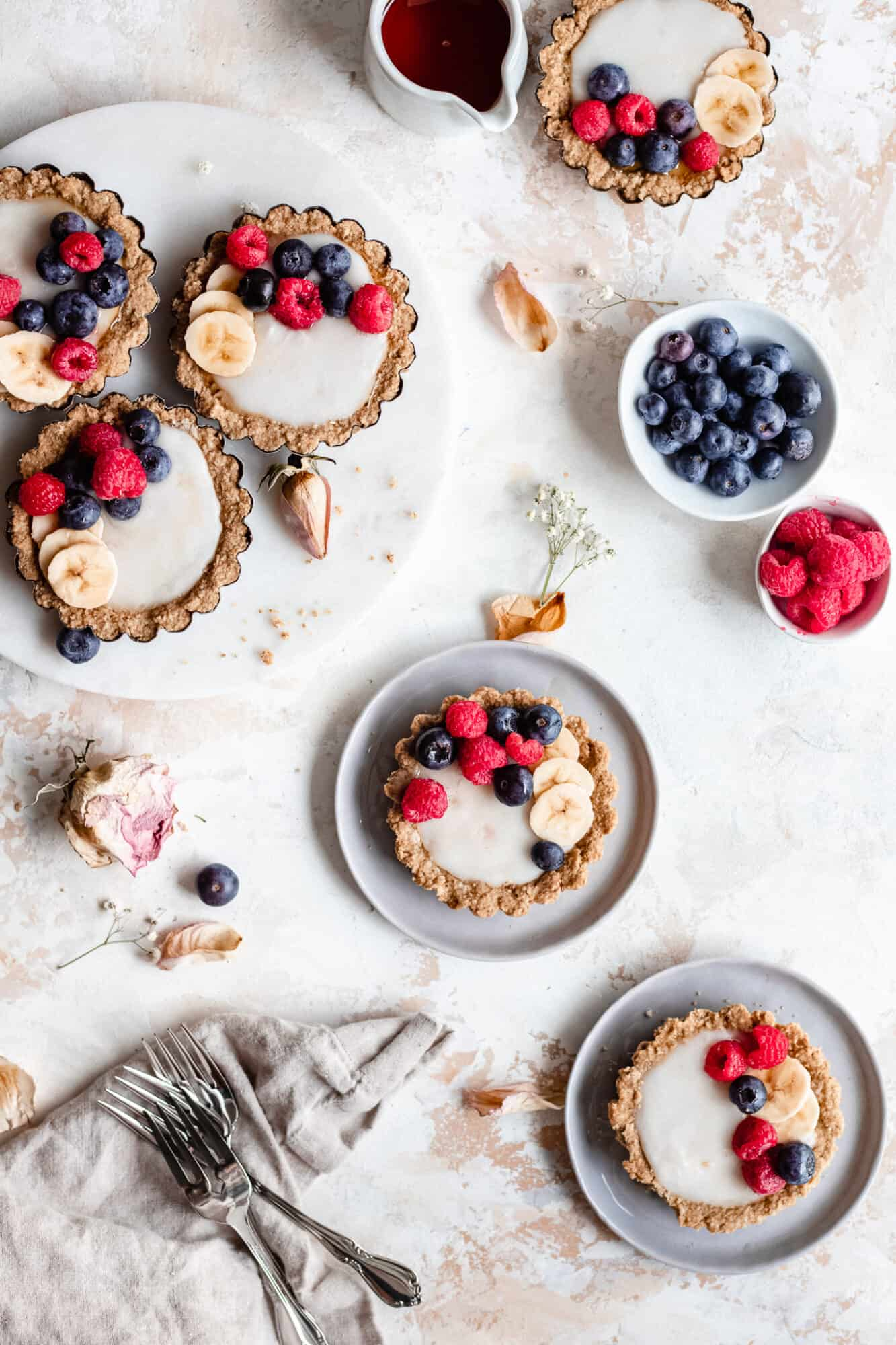 spread with mini tarts