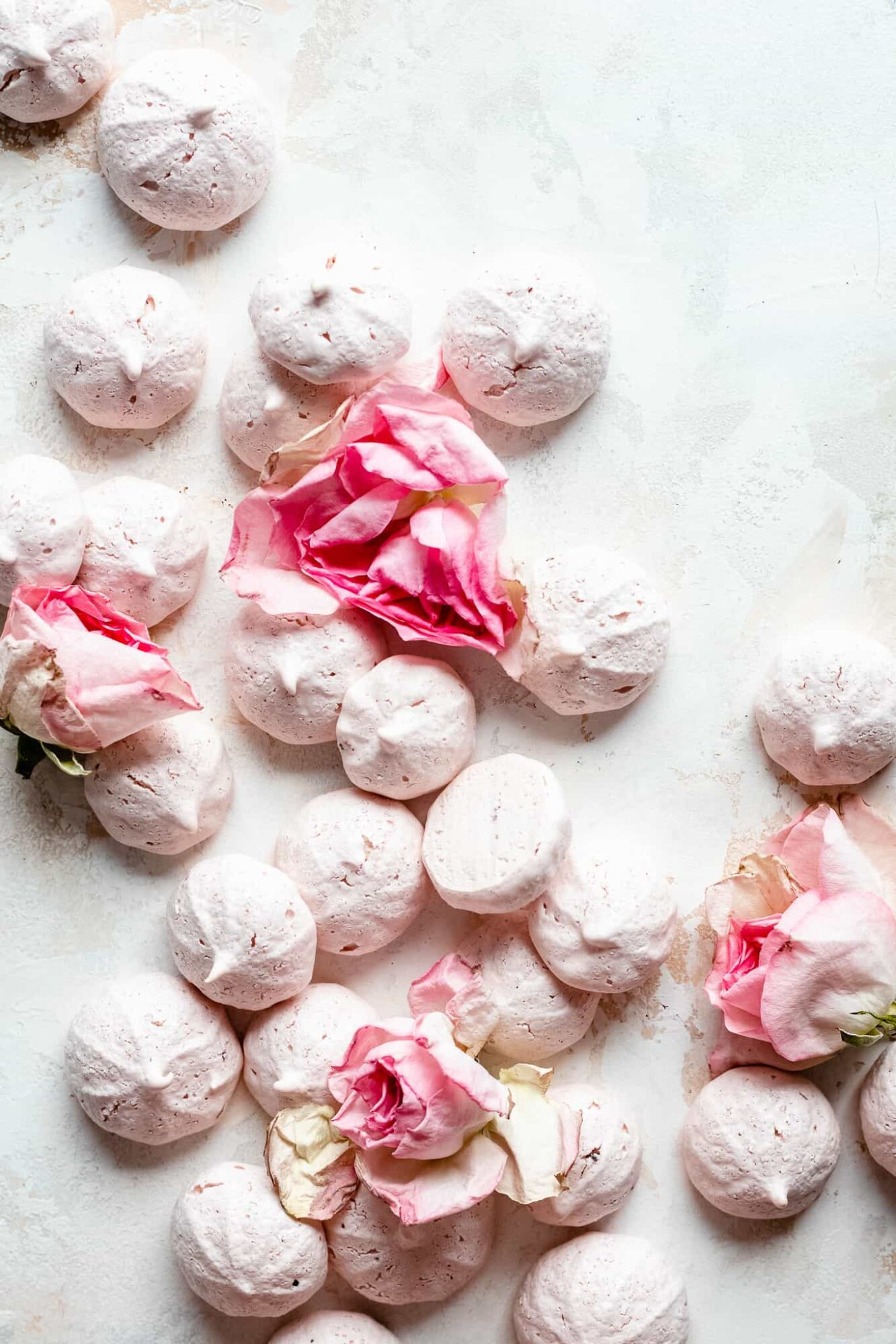 pink vegan meringue cookies