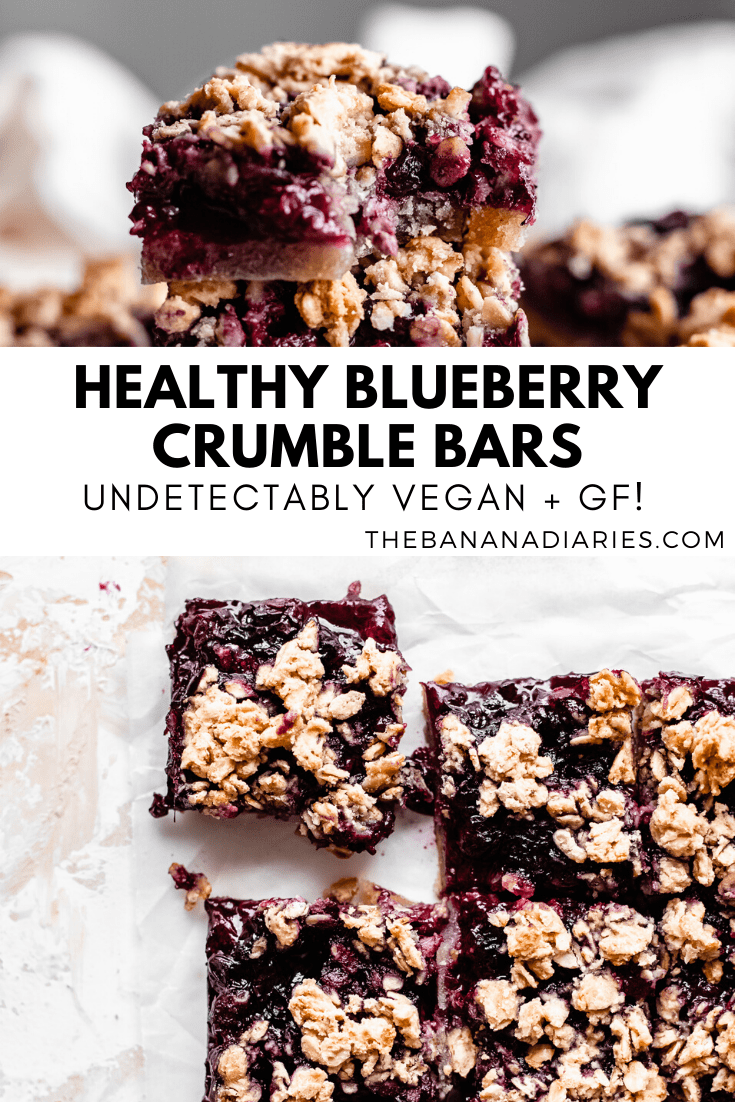 pinterest image for blueberry crumble bars