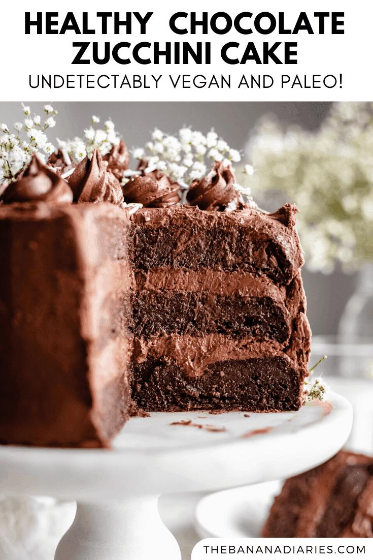 pinterest image for zucchini cake