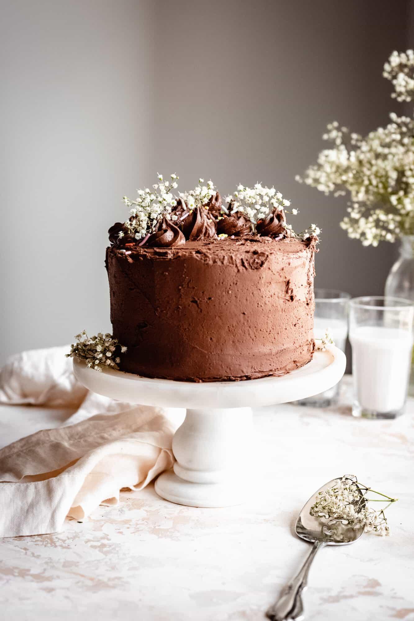 whole chocolate zucchini cake