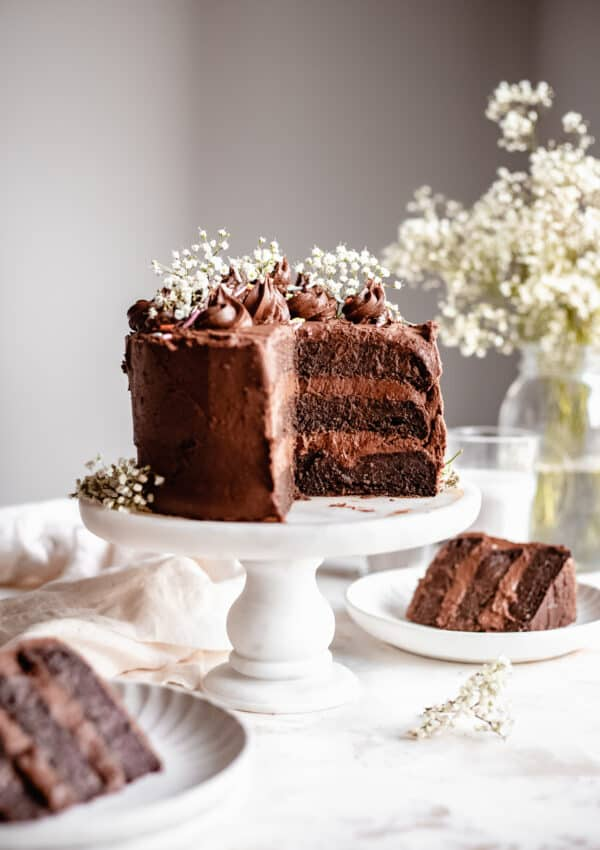 Healthy Chocolate Zucchini Cake (Vegan)