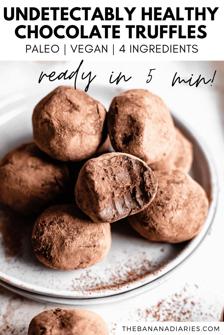 pinterest image for vegan truffles