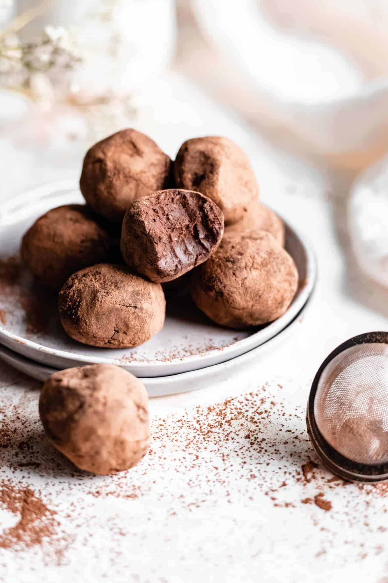 biten vegan chocolate truffle