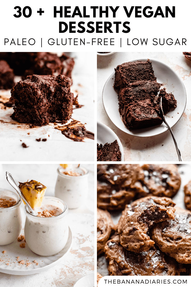 collection of over 30 vegan dessert recipes
