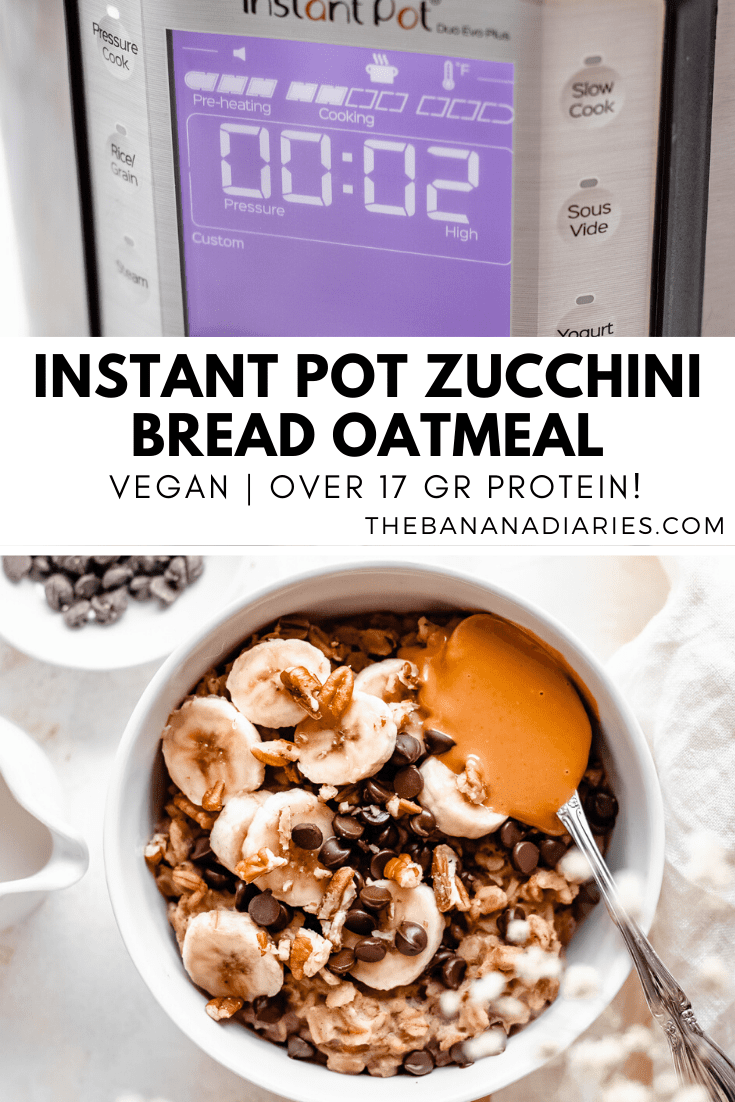 Pinterest image for zucchini oatmeal