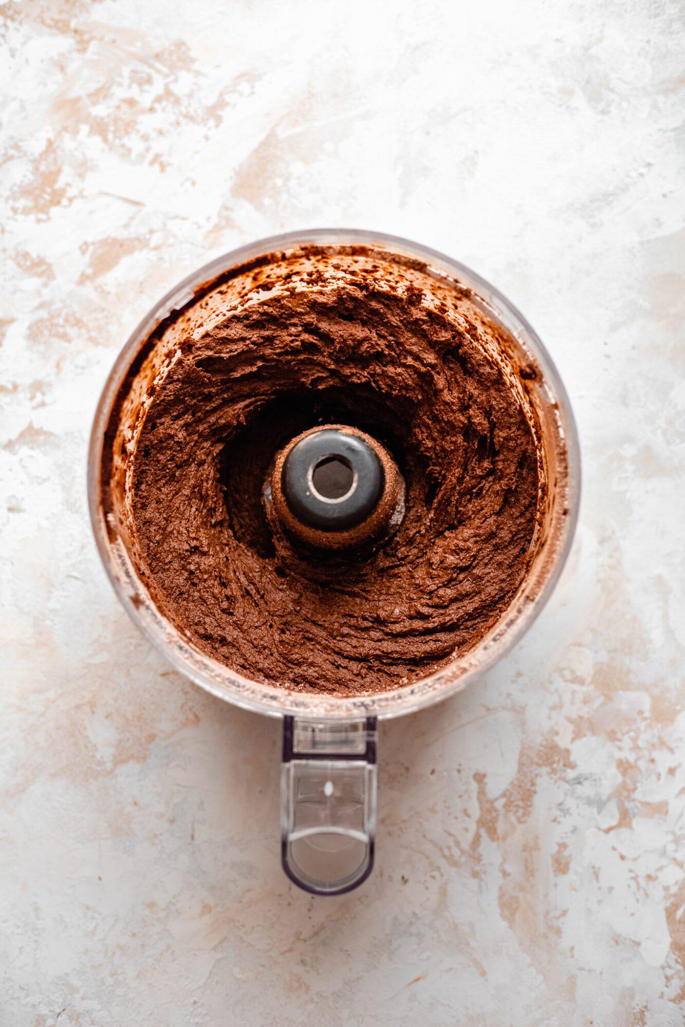 blended brownie ingredients