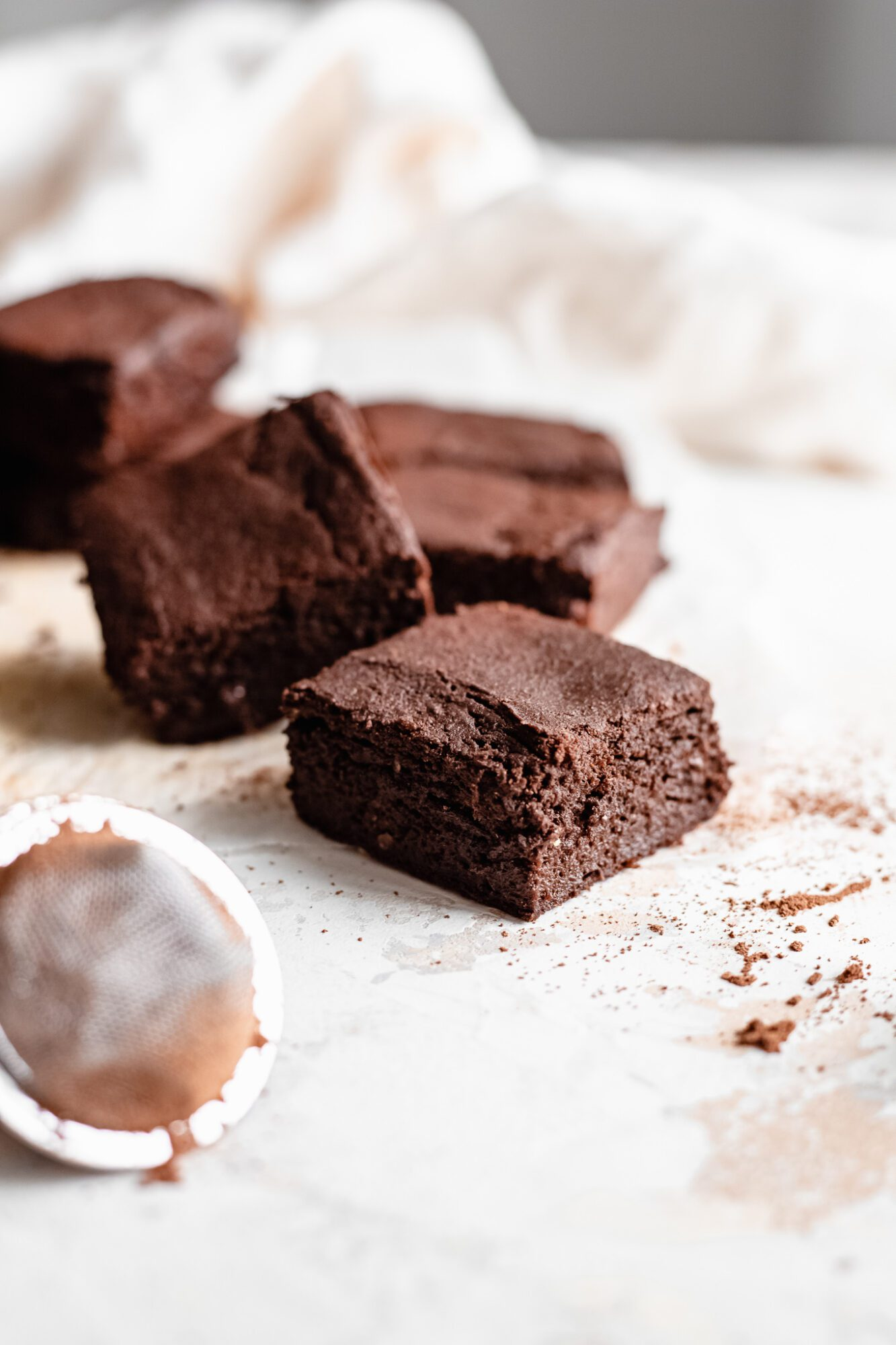 sweet potato brownie on parchment paper