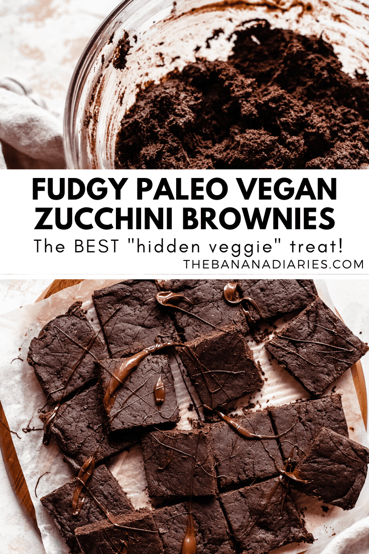 Pinterest image for zucchini brownies