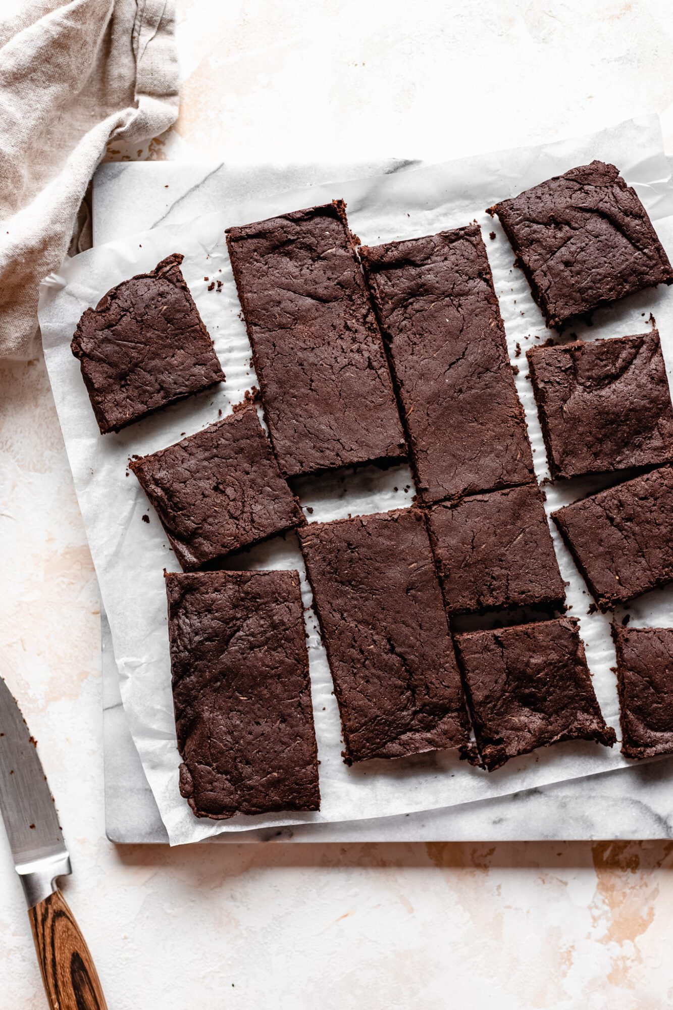 sliced zucchini brownies