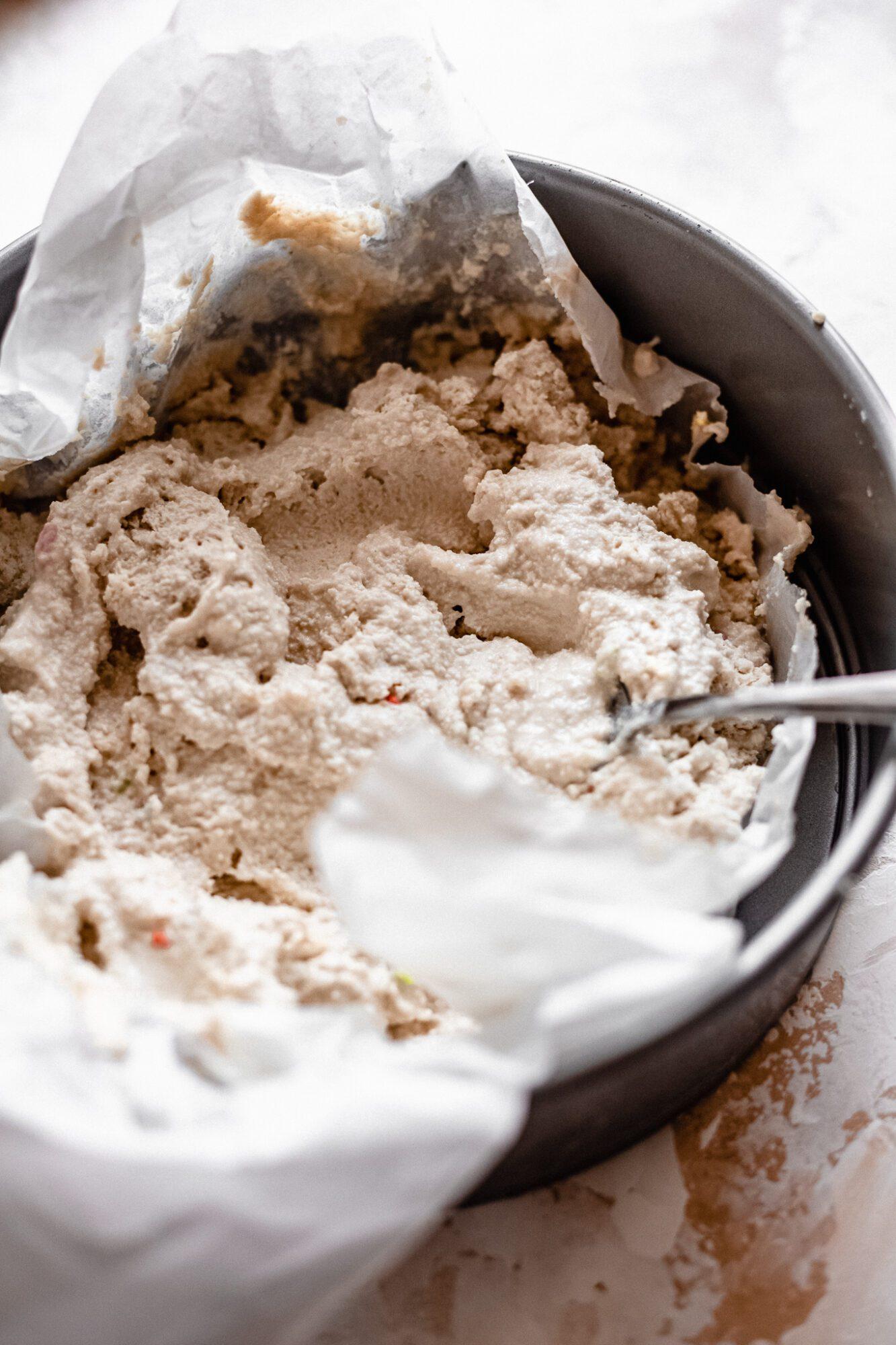 scoops of cashew ice cream