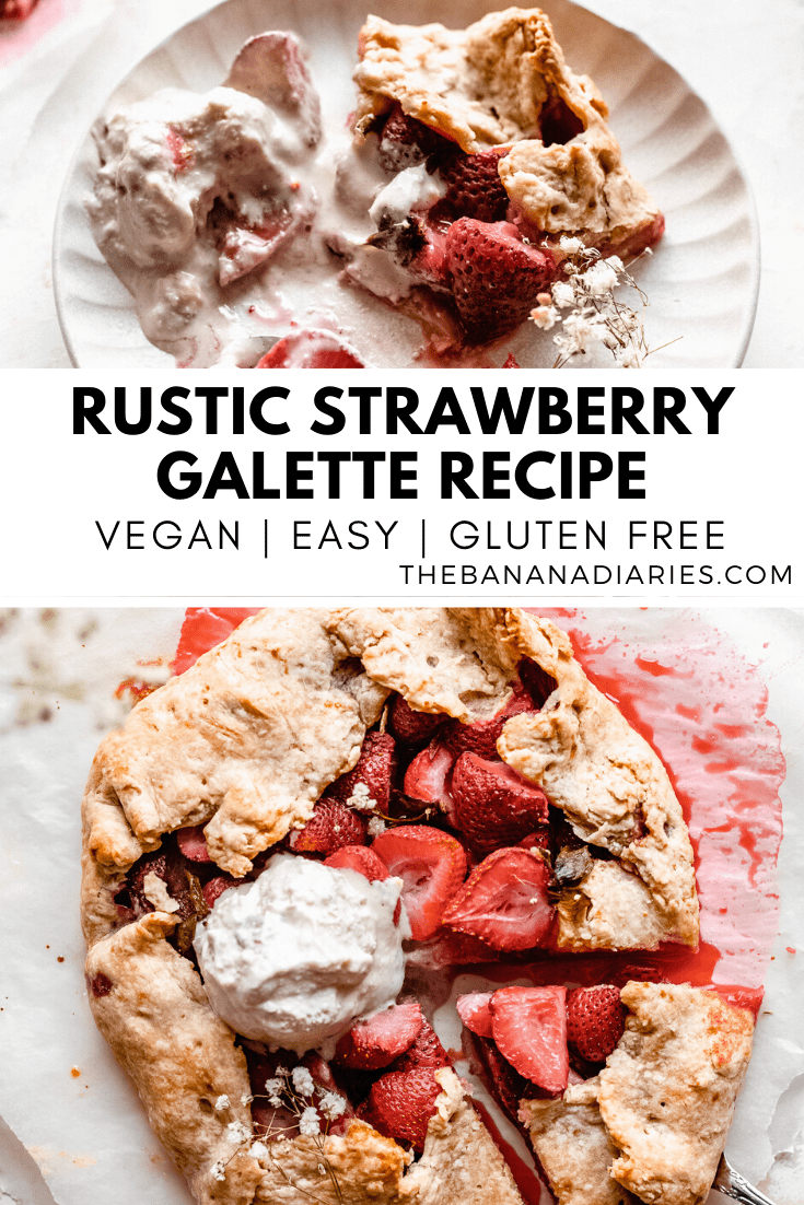 pinterest image for strawberry galette