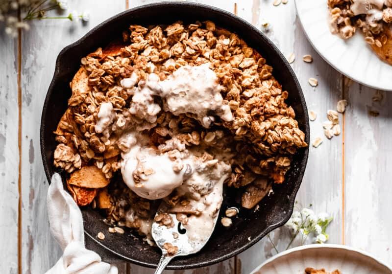 Healthy Apple Crisp Recipe (Vegan)
