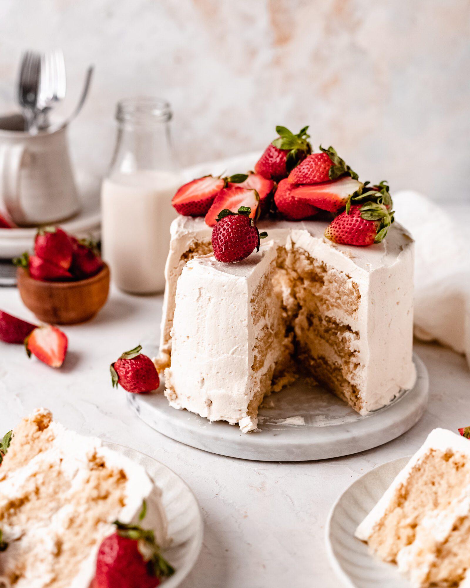 Easy Strawberry Vanilla Chiffon Cake Recipe Eggless The Banana Diaries